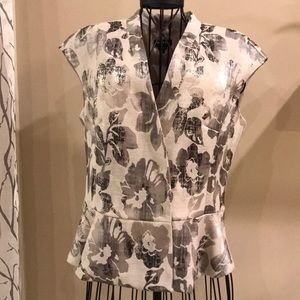 WORTH Grey & Silver Floral Print Sleeveless Top 8